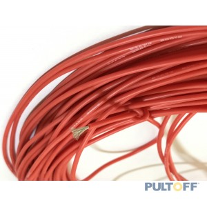 0,15? 1pin rood Silicon  lengte1 meter