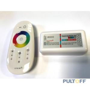 RGBW, 2.4G RF, 4CH,12-24V, 4X6A TOUCH SCREEN