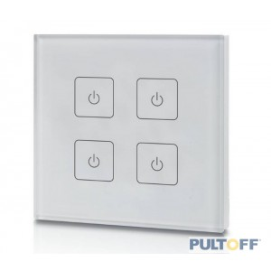 SR-2833T2-AC (white ) 4 zones RF wall touch panel, with back light, Sunricher