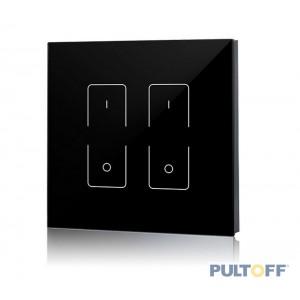 SR-2833T1-AC(B) (black) 2 zones RF wall touch panel, Sunricher